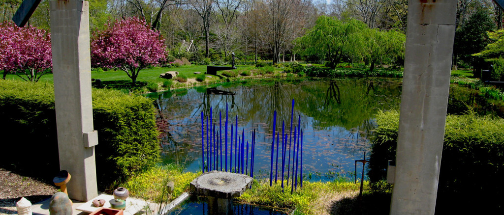LongHouse Reserve House & Gardens, East Hampton. Peter's Pond from the LongHouse Balcony