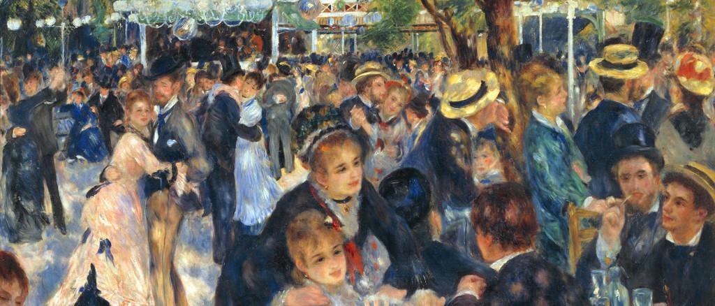 'Bal du moulin de la Galette', painted by Pierre-Auguste Renoir 1876. Currently housed in the Musée d'Orsay, Paris. Credit: Pierre-Auguste Renoir [Public domain], via Wikimedia Commons