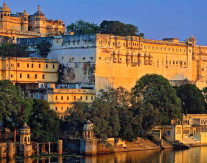 Udaipur, India. Within the fortress capital, whose walls encompass 280 hectares, are the ruins of several palaces, many temples, ceremonial pools fed by springs that emerge from the bedrock, and a victory monument visible from several kilometres away, that the Mewar raja built to commemorate his victory over the Sultan of Malwa in 1440.