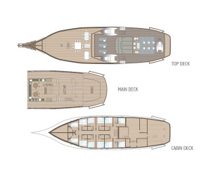 Ombak Putih Deck Plan. Courtesy: Sea Trek
