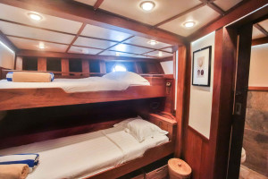 Triple Stateroom, Ombak Putih. Courtesy: Sea Trek