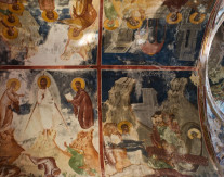 Frescoes of the Church of the Virgin, Gelati Monastery, Kutaisi, Georgia - by Kristen Hellstrom. The monastery, with its distinctive Georgian church architecture, contains a number of royal tombs, including that of King David, and a number of Georgia's most important mosaics, frescoes and icons dating from the 12th to the 17th century.