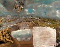 El Greco - View and Plan of Toledo  c. 1610