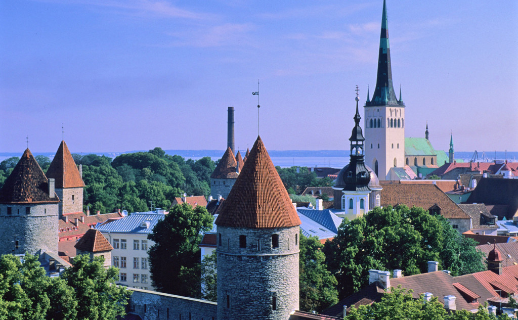 Tallinn, Historic Centre from Castle Hill