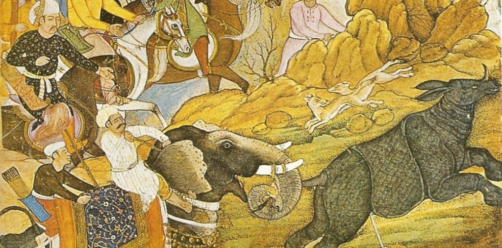 Image 2 - Mogul india lecture Rhino Hunt Babur 1